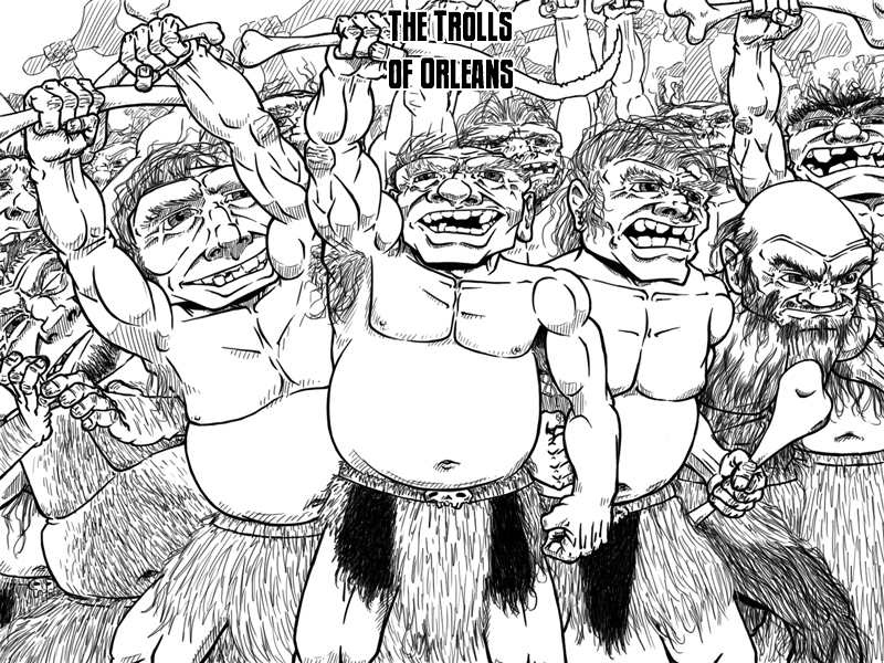 The Trolls of Orleans – Cover